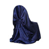 Navy Blue Universal Satin Chair Cover