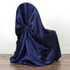 Universal Satin Chair Cover Decor - Navy Blue