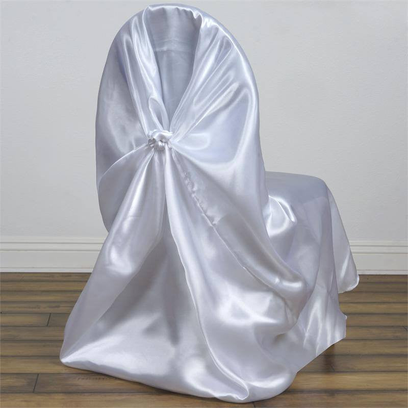 universal satin chair cover decor white efavormart