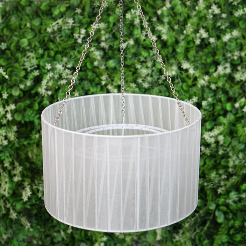 2 Ft Drum Shade Chandelier + Free Chandelier Stand