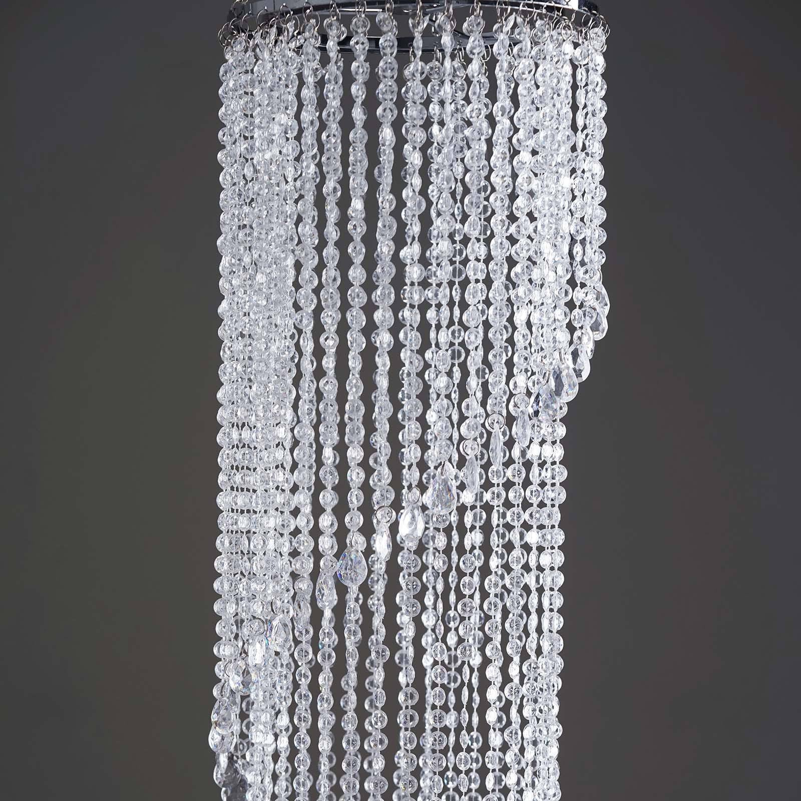 72 acrylic diamond spiral chandelier free stand poles efavormart majestic hanging acrylic spiral diamond chandelier 13inch diameter x 72inch drop aloadofball Images