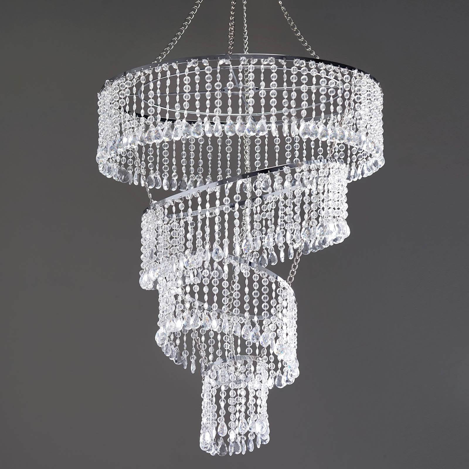 crystal pendant lighting. 4 Tier Mordern Crystal Pendant Lighting Diamond Chandelier - 18\