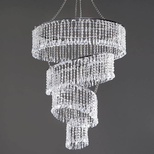 4 Tier Crystal Pendant Lighting Diamond Chandelier 18