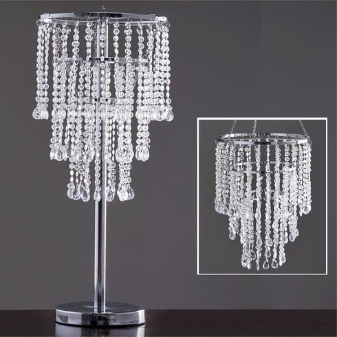 "Acrylic Glass Diamond Pendant Wedding Party Chandelier Centerpiece -30"" Tall+Chandelier STand"