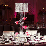 "22"" Diamond Pendant Crystal lighting Chandelier Centerpiece + FREE Chandelier Stand"