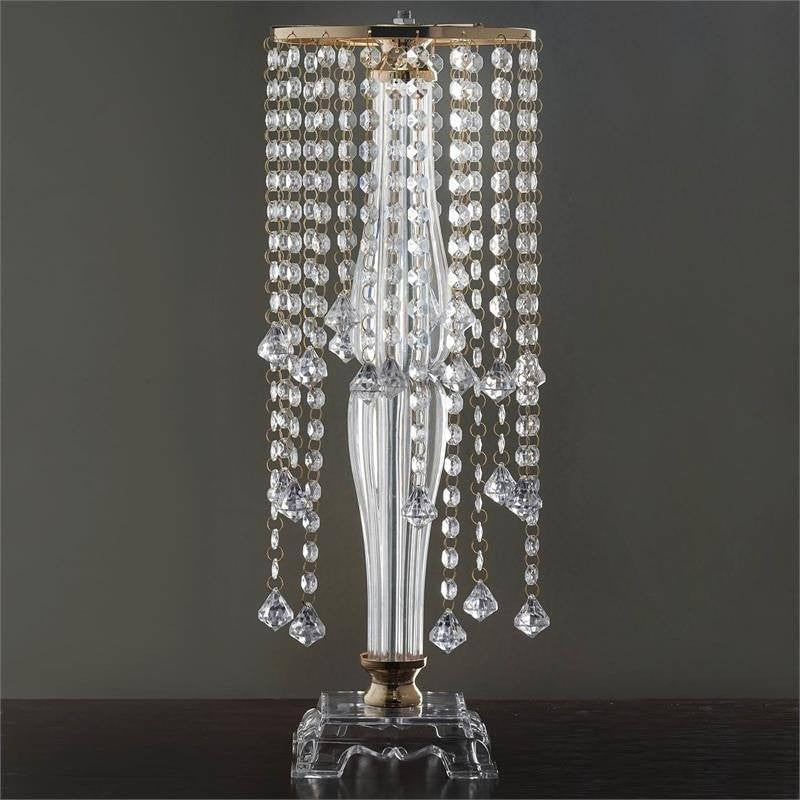 Quot tall gold flower stand crystal pendants chandelier