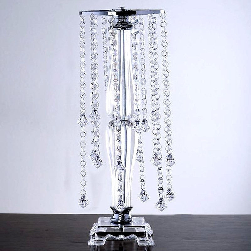 Quot tall flower stand crystal pendants chandelier wedding