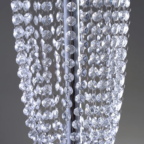 32 tall exotic designer crystal garland chandelier centerpiece exotic designer crystal garland chandelier wedding centerpiece 32 aloadofball Image collections