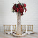 2 Ft Gold Hurricane Crystal Beaded Floral Vase