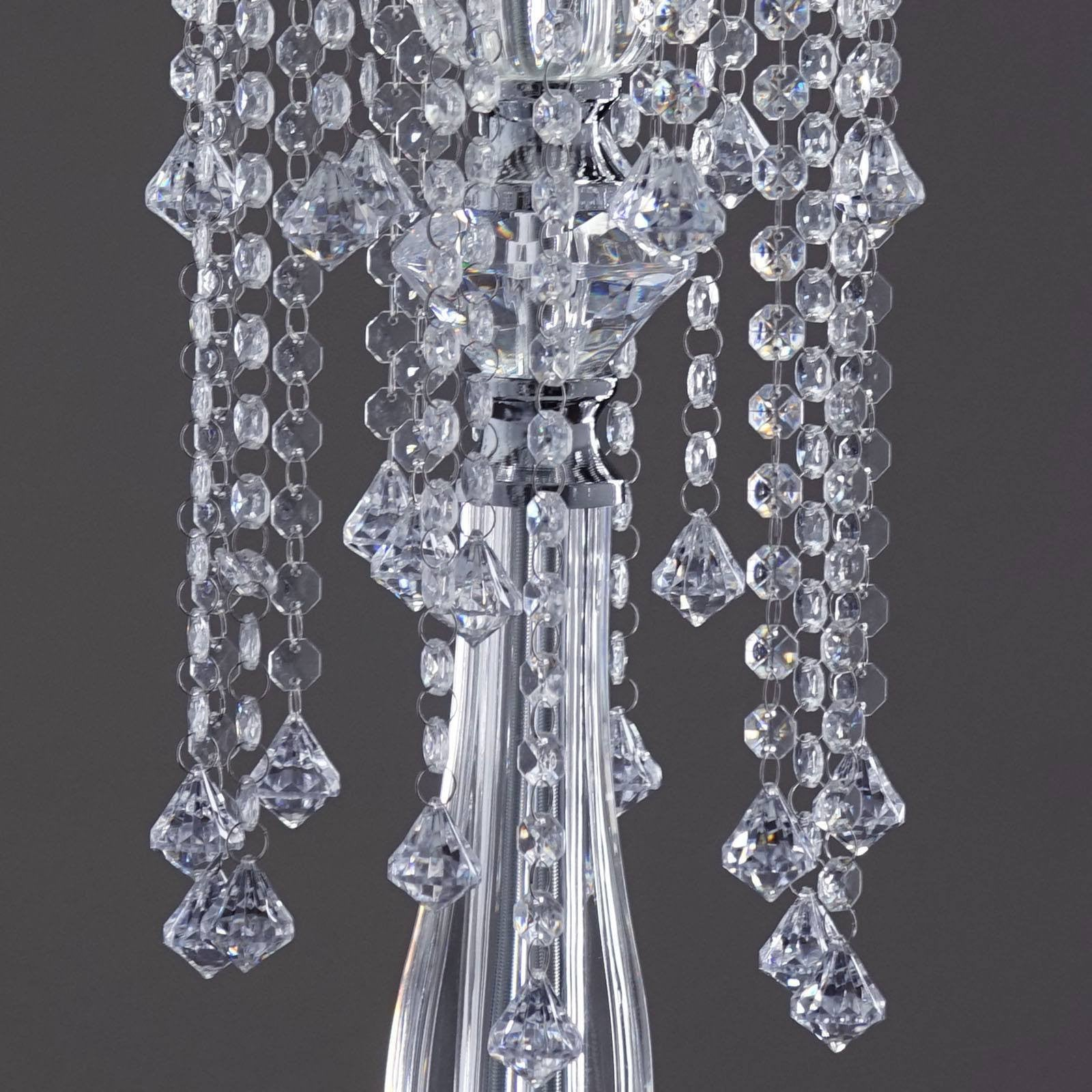 "19 Hanging Crystals with Teardrops Chandelier 28"" tall"