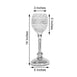 "Pack of 2 - 14"" Tall Silver Crystal Acrylic Goblet Votive Candle Holder Set"