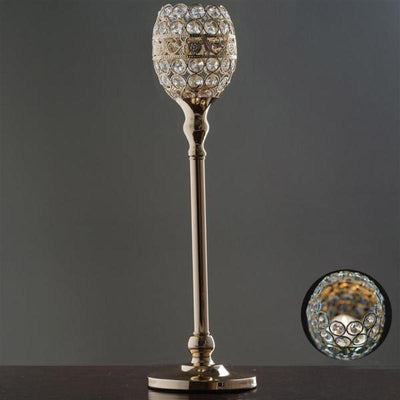 2 pack 18 tall gold crystal beaded goblet votive tealight candle 18 tall crystal beaded candle holder goblet votive tealight chandelier gold buy one aloadofball Gallery