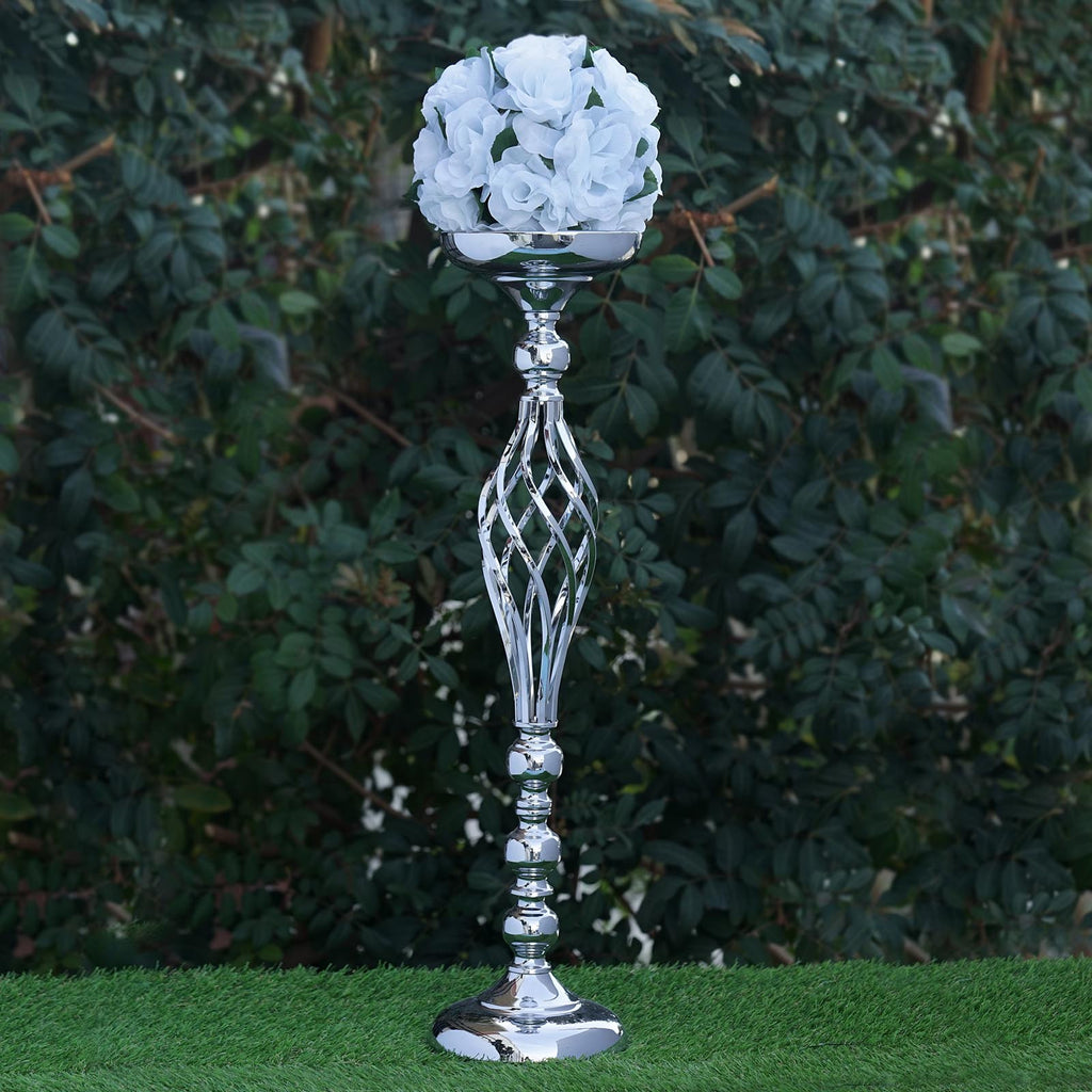25 5 tall silver metal wedding flower decor candle holder vase centerpiece efavormart - A buying guide for decorative candles ...