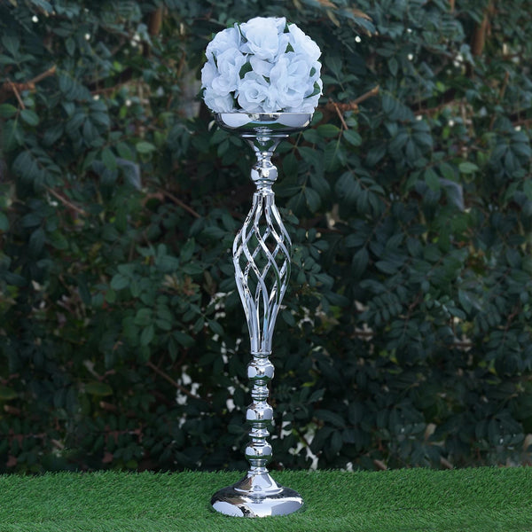 25 5 Quot Tall Silver Metal Wedding Flower Decor Candle Holder