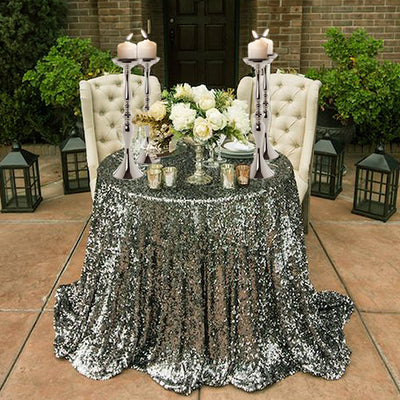 "19"" Tall Silver Metallic Floral Vase Wedding Centerpiece Riser - Buy One Get One Free"