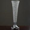 "23"" Tall Silver Beaded Crystals Trumpet Vase Wedding Centerpiece - Buy One Get One Free"