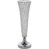 "2 Pack 24"" Tall Silver Beaded Crystals Trumpet Vase"