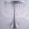 17 inch Tall Silver Metallic Trumpet Cake Riser Stand