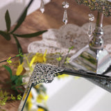 Set of 3 Square Mirror Top Silver Cup Cake Riser Centerpiece Stand