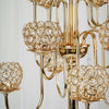 40 inch Tall 13 Arm Gold Crystal Beaded Candelabra Candle Holders