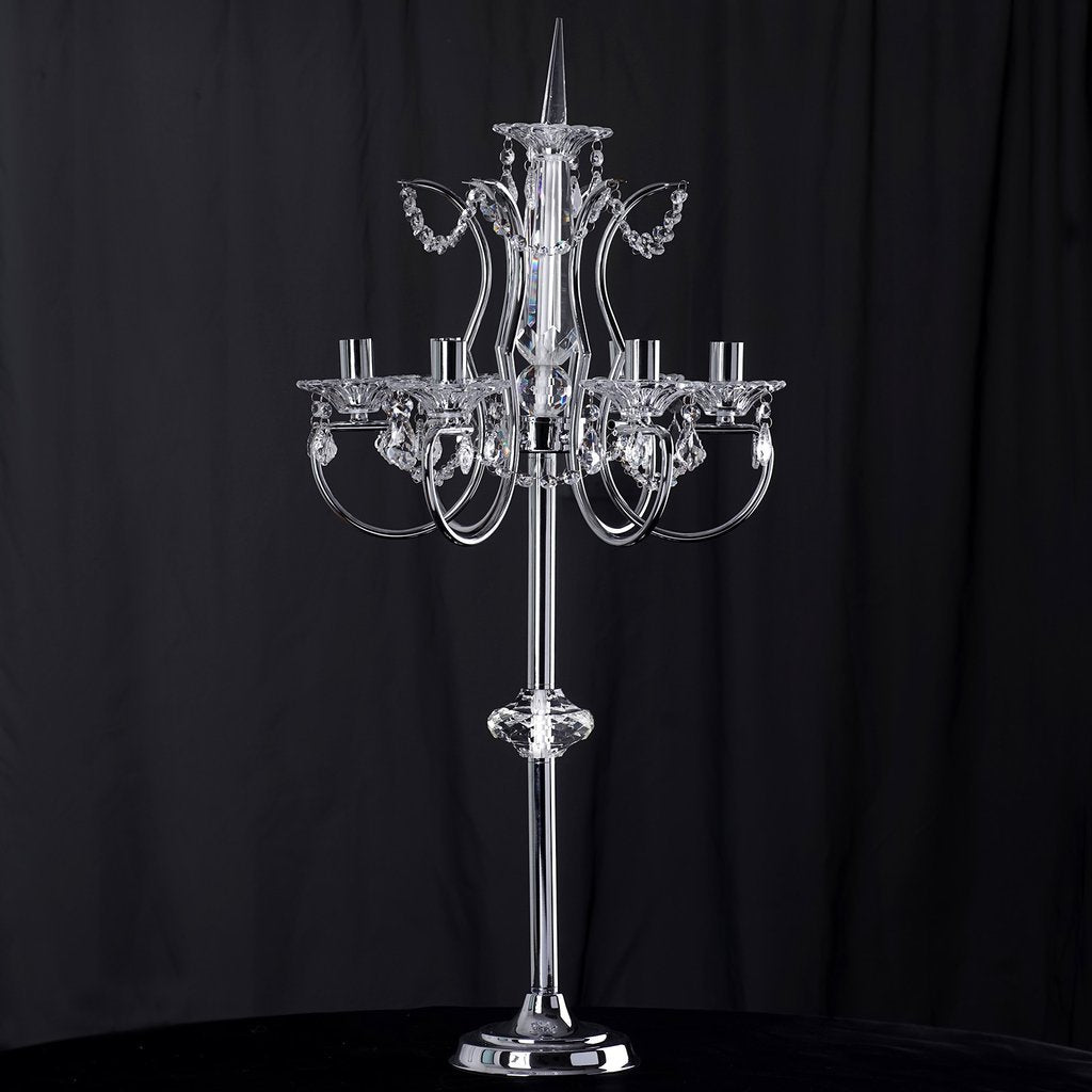 40 silver metal acrylic baroque candelabra efavormart candelabra detail red candles baby shower ideas calla lily wedding favors efavormart aloadofball Choice Image