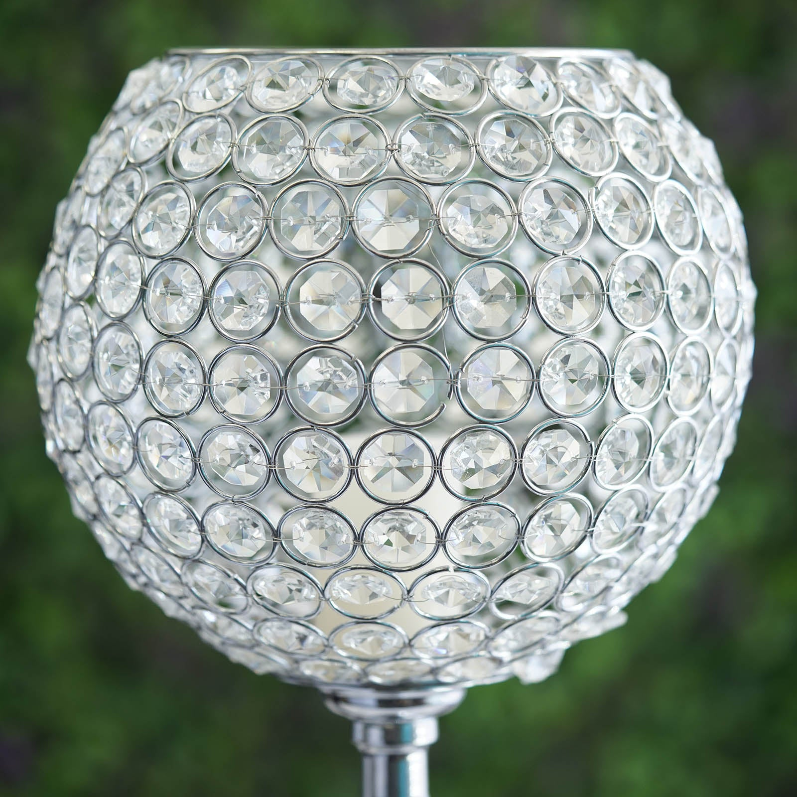 """30/"""" Acrylic Crystal Goblet Candle Holder Flower Ball Centerpiece For Weddings"""