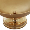 "12"" Round Metallic Gold Floating Candle Pedestal Bowl Flower Pot 7"" Tall"