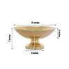"15"" Round Metallic Gold Floating Candle Pedestal Bowl Flower Pot 7"" Tall"
