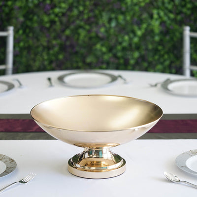 "15"" Tall Metallic Gold Floating Candle Pedestal Bowl Flower Pot Wedding Centerpiece"