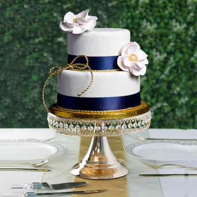 8 Gold Sparkling 65 Crystal Beaded Cake Stand Centerpiece Riser