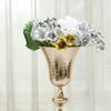 "24"" Gold Hammered Style Metal Trumpet Vase Centerpiece"