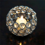 "3.5"" Tall Silver Adorable Votive Tealight Wedding Crystal Candle Holder"