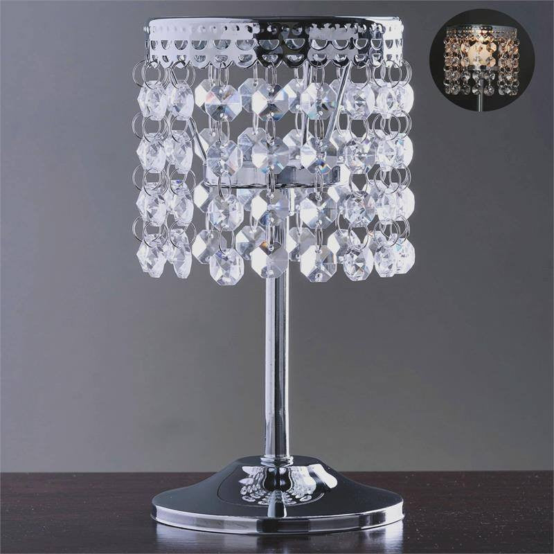 Quot elegant metal votive tealight crystal candle holder