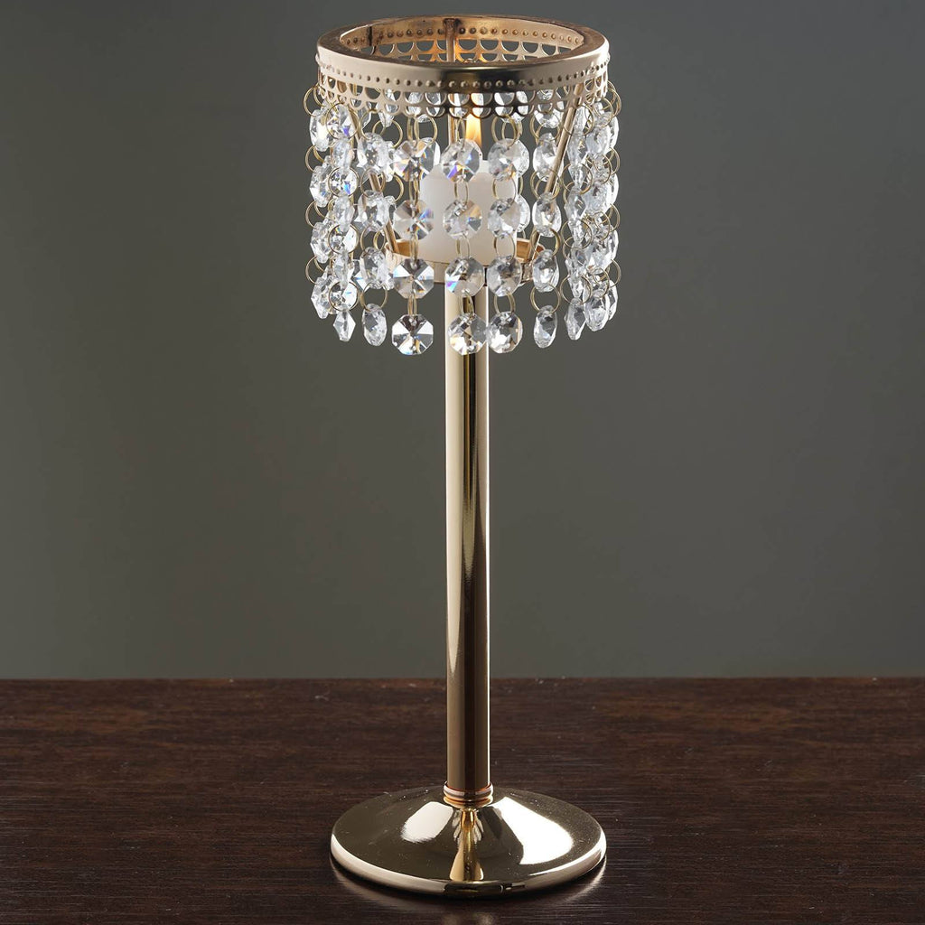 Quot gold stunning metal votive tealight crystal candle