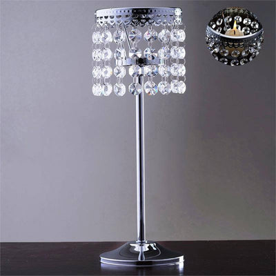 Stunning  Metal Votive Tealight Crystal Candle Holder Wedding Centerpiece - 11.5""