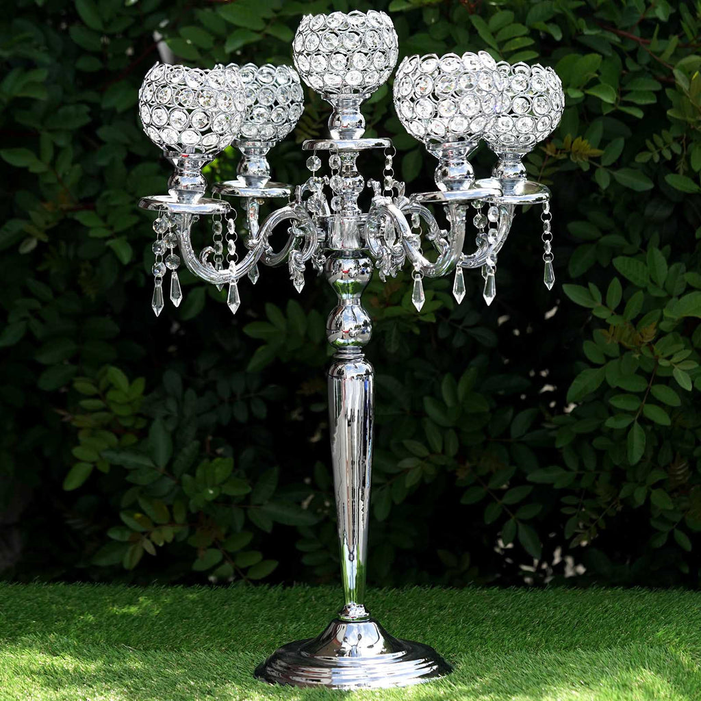 Candelabra chandelier crystal votive candle holder wedding