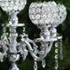 "25"" Tall Silver Crystal Votive Candelabra Chandelier Candle Holder Tabletop Centerpiece"