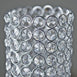 "16"" Tall Exquisite Votive Tealight Crystal Candle Holder - Silver"
