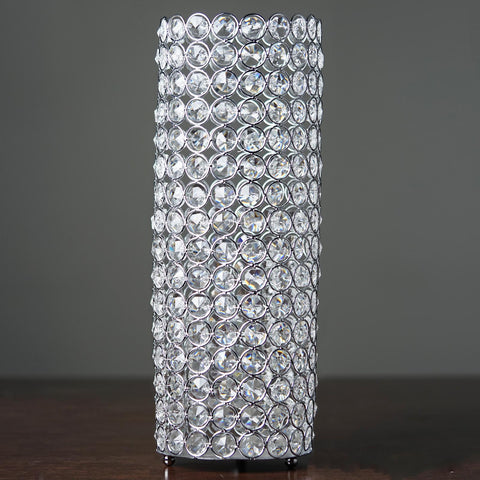 "16"" Tall Silver Exquisite Wedding Votive Tealight Crystal Candle Holder"