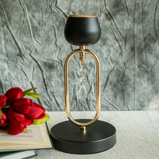 "2 Pack | 11"" Matte Black/Gold Metal Tealight Votive Candle Holder Chandelier Stands"