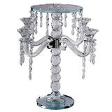 "15"" Gemcut Egyptian Handcrafted Glass Candelabra Votive Candle Holder With Crystal Chains - 1 PCS"