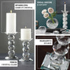 "7"" Gemcut Crystal Glass Votive Candle Holder"