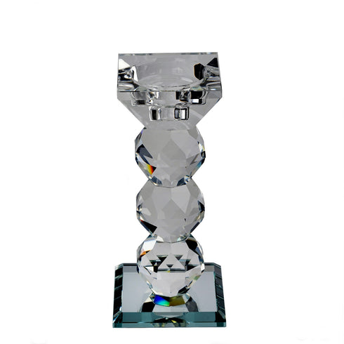 "6"" Gemcut Crystal Glass Votive Candle Holder"