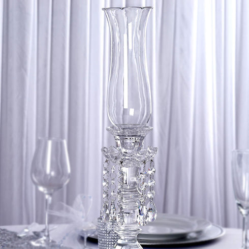 "20"" Tall Handcrafted Crystal Candelabra Centerpieces - PREMIUM Collection"