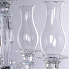 40 inch Tall 5 Arm PREMIUM Hurricane Taper Crystal Glass Candle Holder