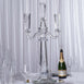 "32"" Tall 3 Arm PREMIUM Gem Cut Crystal Glass Candle Holder"