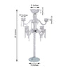 "35"" Tall Handcrafted 8 Arm 3 Tier Crystal Tabletop Candelabra Taper Pillar Chandelier Candle Holder with Floral Bowl - PREMIUM Collection"