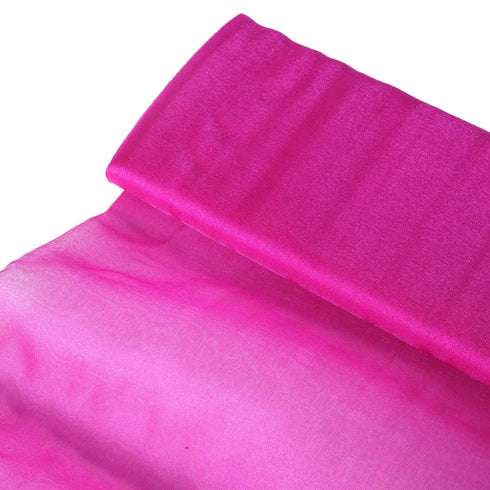 "54""x10 yards Chiffon Fabric Bolt Wedding Drape Panel Dress Stage Decor - Fushia"