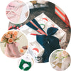 "1.5"" x 6Yard - Set of 2 Silver Chiffon Ribbon Rolls For Bouquets, Wedding Invitations & Gift Wrapping"