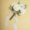 Set of 2 White Chiffon Ribbon Rolls For Bouquets, Wedding Invitations & Gift Wrapping